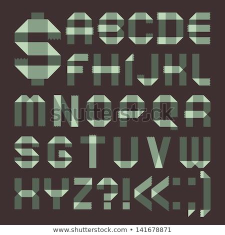 Font from spindrift scotch tape -  Roman alphabet Stock photo © Ecelop