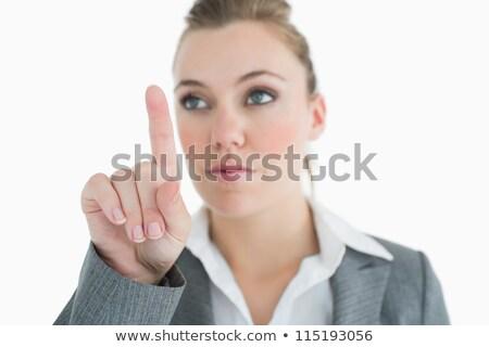 女性実業家 · ポインティング · スーツ · 女性 - ストックフォト © wavebreak_media