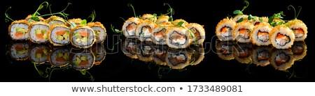 Somon sushi sıcak rulo taze Stok fotoğraf © Elmiko