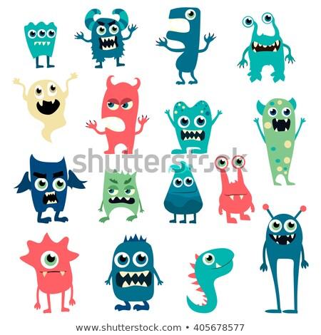 cartoon monster eps10 stock photo © larser