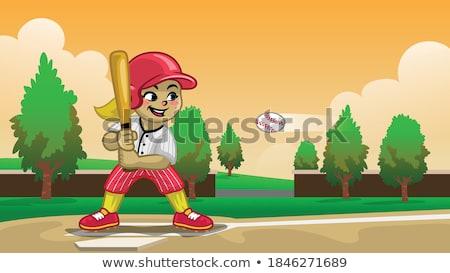 Játszik baseball kép póló nélkül férfi baseball ütő Stock fotó © pressmaster