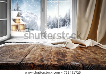 old window winter morning stock photo © eldadcarin