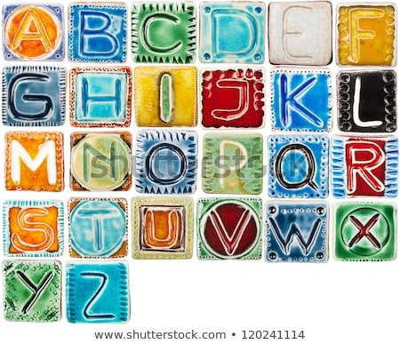 Handmade Ceramic Alphabet Сток-фото © Taigi