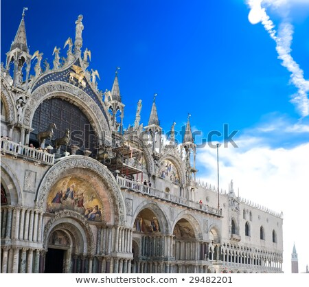 Wall Of The Cathedral In Venice Foto d'archivio © Sailorr