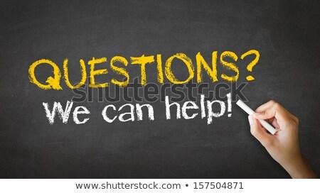 Fragen · Antworten · Tafel · Briefe · geschrieben · Schule - stock foto © kbuntu