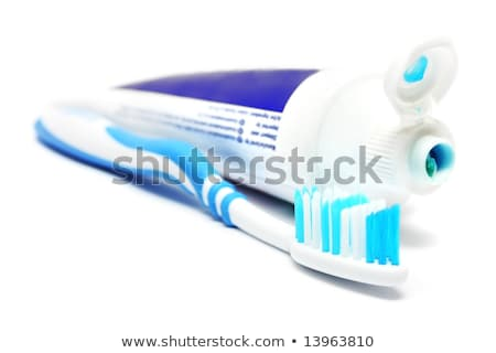Stock foto: Tooth Brushes Beside Toothpaste