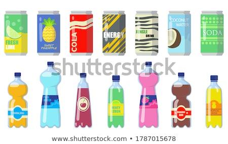 ボトル · おいしい · ドリンク · 氷 · 光 · 金 - ストックフォト © taden