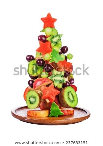 Natal salada de frutas comida coquetel banana salada Foto stock © M-studio
