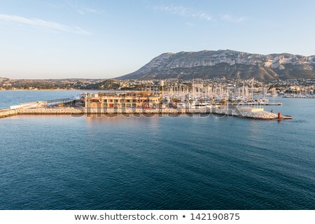 Boat moored in Mediterranean marina in Denia Alicante Stock photo © lunamarina
