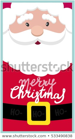 Handmade Christmas Santa portrait Stock photo © ifeelstock