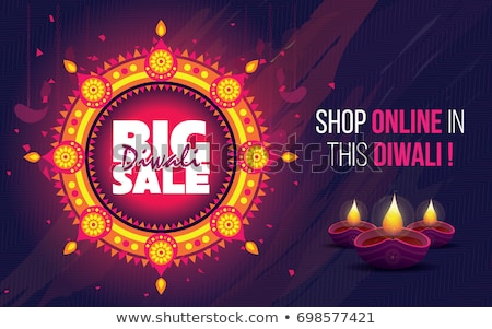 abstract diwali discount card template Stock photo © pathakdesigner