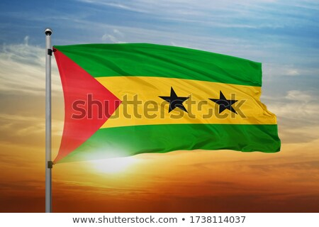 Flag Sao Tome and Principe Stock photo © Ustofre9
