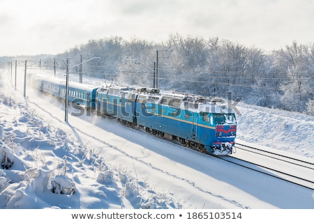 high speed train in station in Wintertime Stock photo © meinzahn