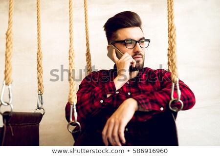 Genç gündelik adam kötü haber telefon Stok fotoğraf © feedough
