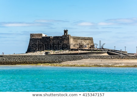 castle castillo de san gabriel in arrecife lanzarote canary is stock photo © meinzahn
