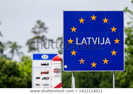 Литва стране границе знак Латвия пальто Сток-фото © 5xinc