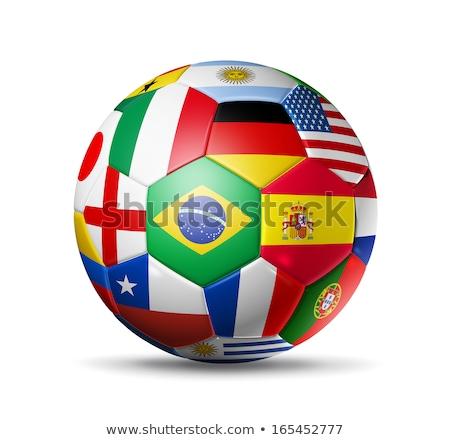 Wereld beker Brazilië 2014 voetbal groene Stockfoto © ankarb