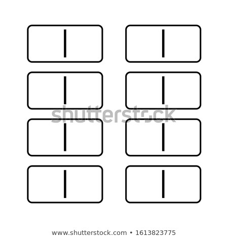 White dominoes with single blank domino Stock photo © backyardproductions
