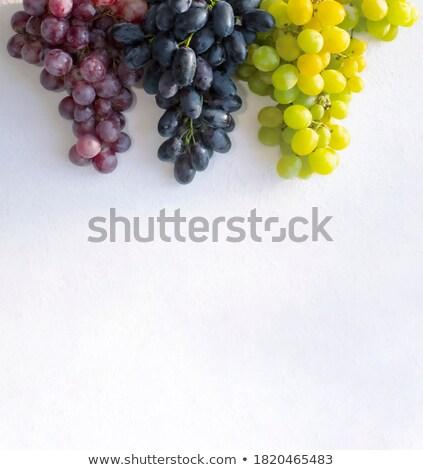 kék · szőlő · fölött · kilátás · nagy · friss - stock fotó © nessokv