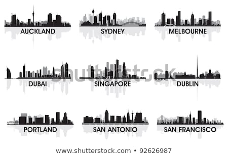 Sydney · Austrália · vetor · silhueta · negócio - foto stock © yurkaimmortal
