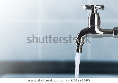 給水栓 · 滴 · 青 · 水 · 金属 - ストックフォト © tilo