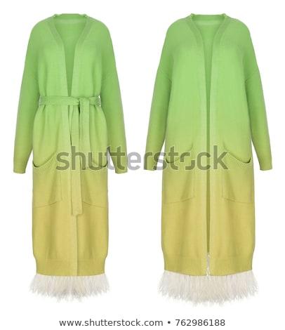 Foto stock: Beautiful · girl · inverno · roupa · branco · isolado · menina