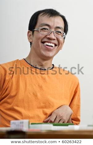 中国語 · 麻雀 · タイル · ホーム · 緑 · 楽しい - ストックフォト © elwynn