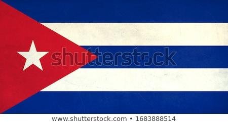 Cubaans vlag groot frame bericht partij Stockfoto © tintin75