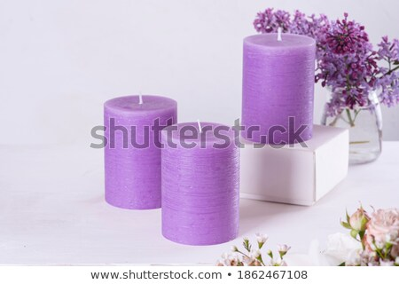 House decoration with aromatic candle violet color Stock photo © artush