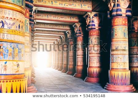 Oude egyptische tempel buitenkant muren kunst Stockfoto © Mikko