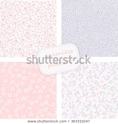 vector collection of 4 vintage seamless floral pattern stock photo © alexmakarova