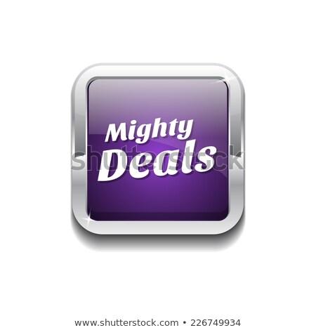 Mighty Deals Purple Vector Icon Button Stock photo © rizwanali3d