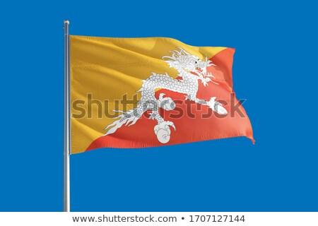 bandeira · Butão · ilustração · 3d · viajar - foto stock © mikhailmishchenko