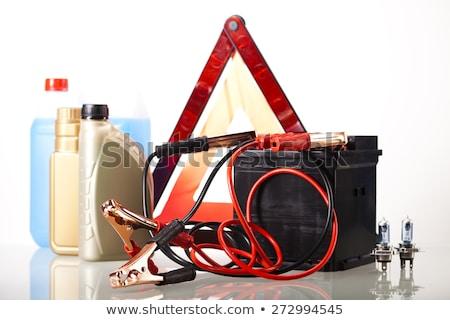 Ingesteld auto-onderdelen auto batterij levendig moto Stockfoto © JanPietruszka