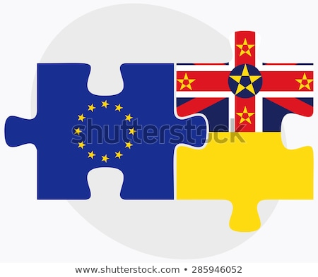 European Union and Niue Flags in puzzle  Stock photo © Istanbul2009
