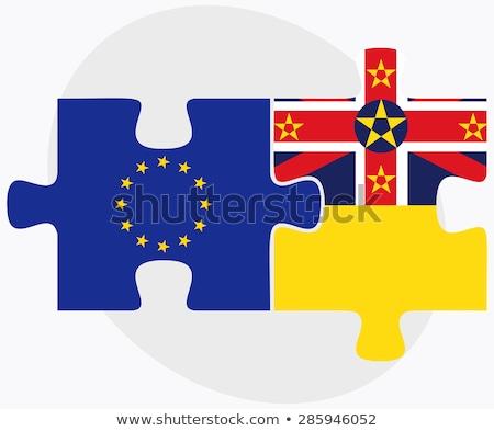 Europeu união bandeiras quebra-cabeça isolado branco Foto stock © Istanbul2009