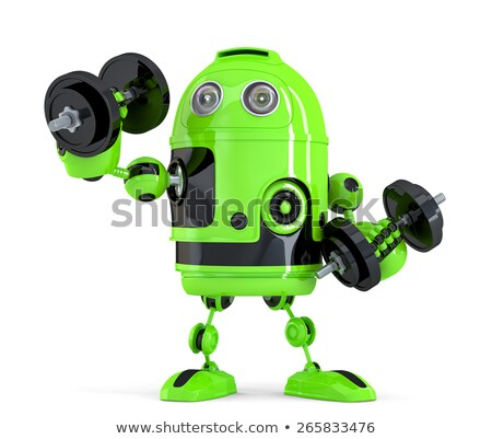 Extremely Powerfull Robot. Technology concept. Isolated. Contains clipping path Stock photo © Kirill_M