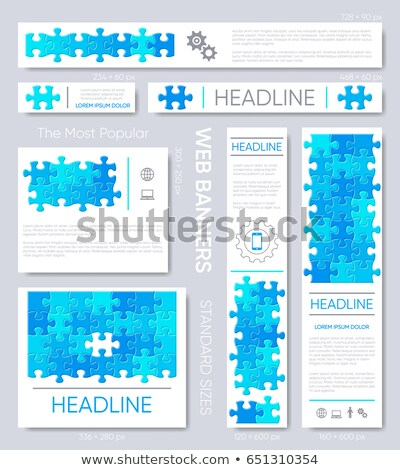 Sale - Text on Blue Puzzles. Stock photo © tashatuvango