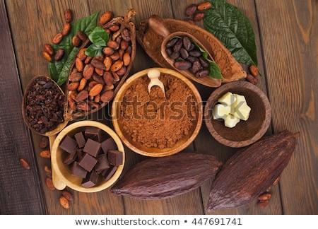 Chopped chocolate with cacao stock photo © joannawnuk