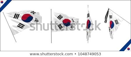 South Korea flag on shirt Stock photo © fuzzbones0