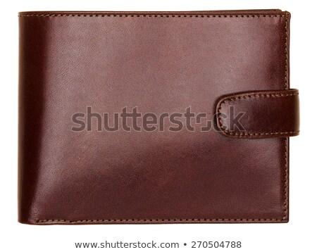 Barna fényes pénztárca izolált fehér üzlet Stock fotó © shutswis