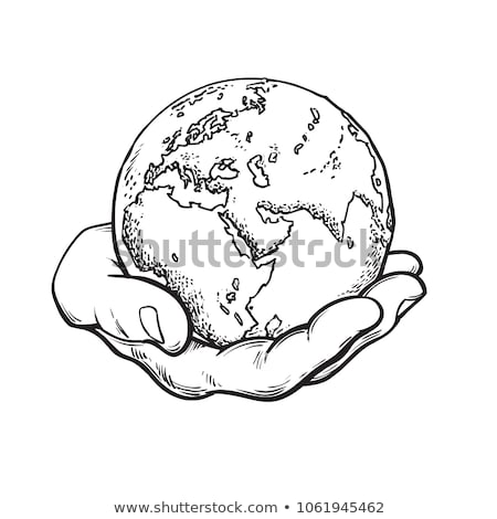 Hand Holding World and globe hands idea Stock photo © kiddaikiddee