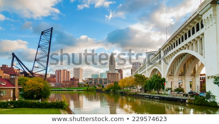 Blue Bridge in Cleveland Stock photo © benkrut