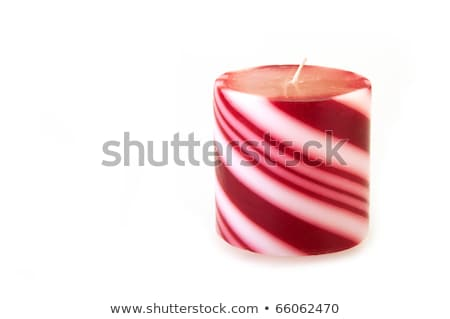 Lighted candle isolated on whit Stock photo © jordanrusev