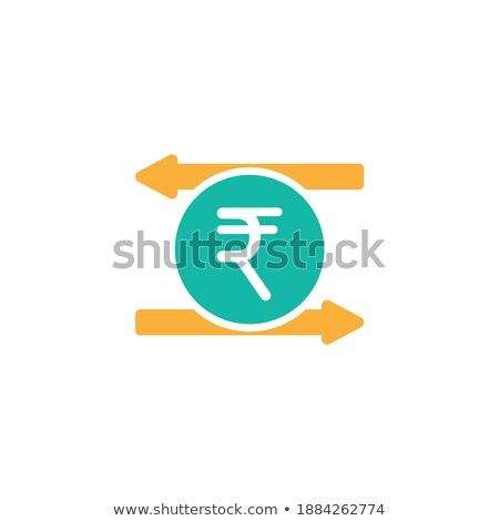Rupee Currency Sign Circular Vector Blue Web Icon Button Stock photo © rizwanali3d