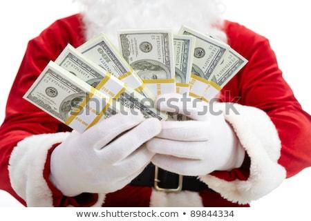 Foto d'archivio: Babbo · natale · dollaro · soldi · Natale · vacanze