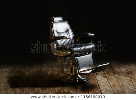 Foto stock: Barbero · tienda · excelente · eps · 10 · mujer