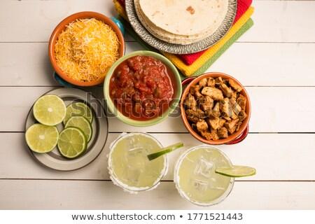 Tacos örnek plaka alışveriş biber öğle yemeği Stok fotoğraf © adrenalina