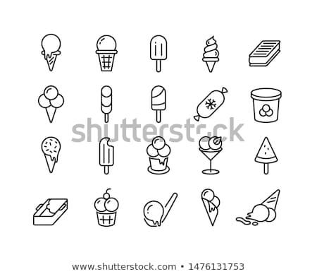 Popsicle line icon. Stock photo © RAStudio