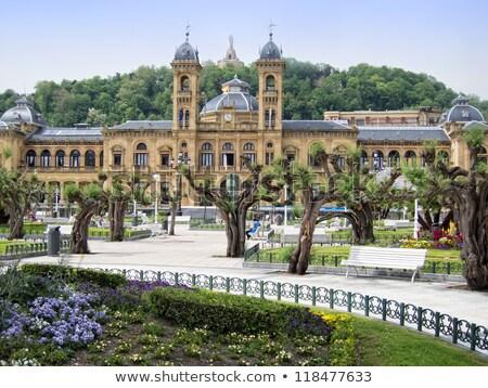 Budynku fasada Hiszpania la retro architektury Zdjęcia stock © dutourdumonde
